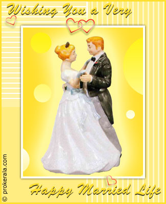 Happy married life prokerala greeting cards happy married life m4hsunfo