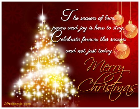 Christmas Greeting Card - Celebrate forever this season and not just today