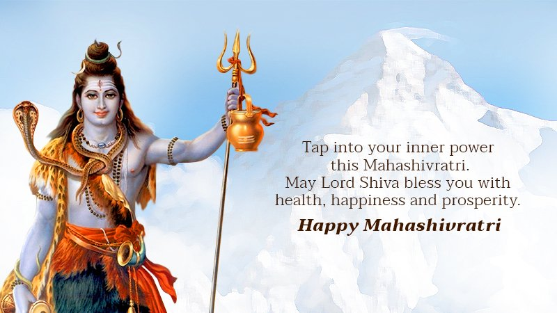 Shivratri greeting for you and your family