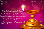 Diwali card - Send and spread the light of diwali festival