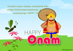 Happy Onam Greeting Card