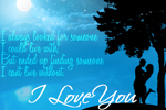 I Love You Card • Lovers & Moonlight Love card