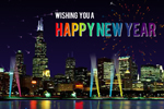New Year Greeting Card - Flash Animated Happy New Year Card
