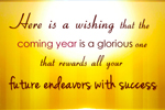 Wishing a Glorious New Year - Send New Year Card online
