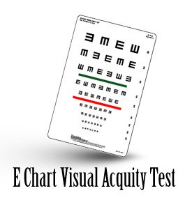 Visual Acuity E Chart Test | Eye Test For Kids Vision with E Chart Test