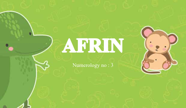 Afrin Name Meaning