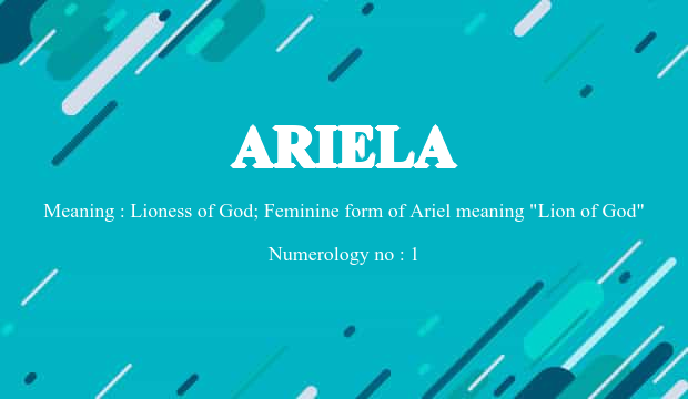 Ariela Name Meaning