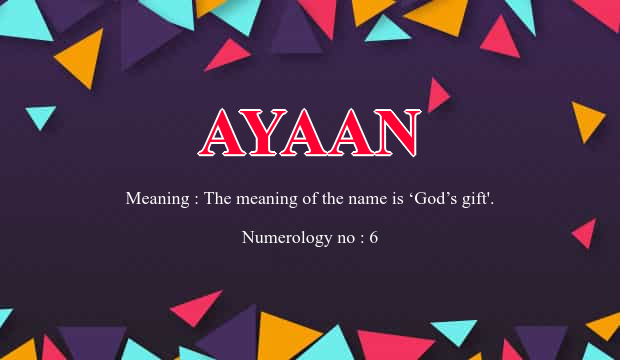 Ayaan name meaning ayaan name meaning details negle Image collections