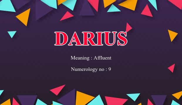 Darius Name Meaning