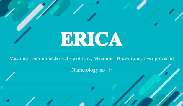 49+ Erica meaning in chinese info