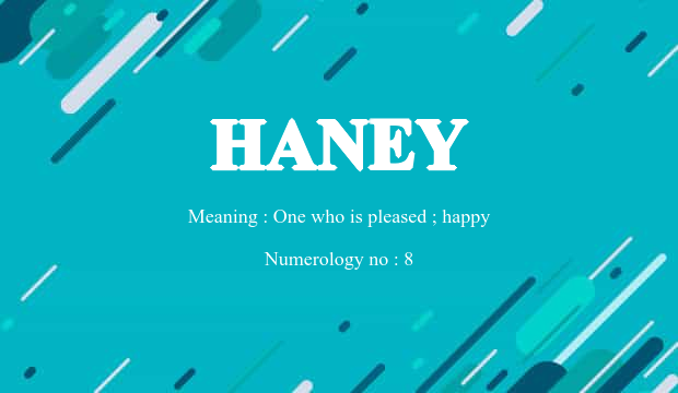 Haney Name Meaning