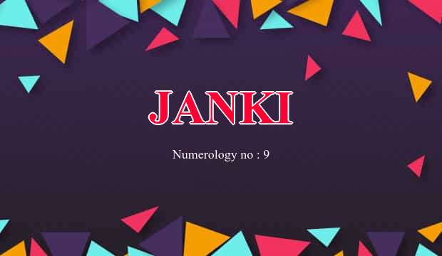 Janki Name Meaning