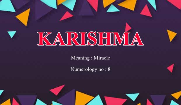 Karishma Name Meaning