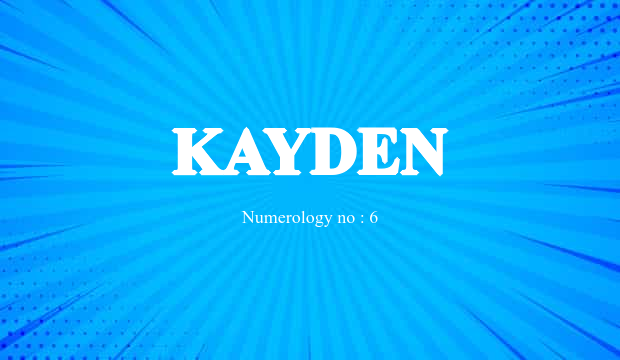 Kayden Name Meaning