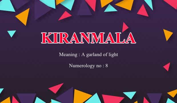 Kiranmala Name Meaning