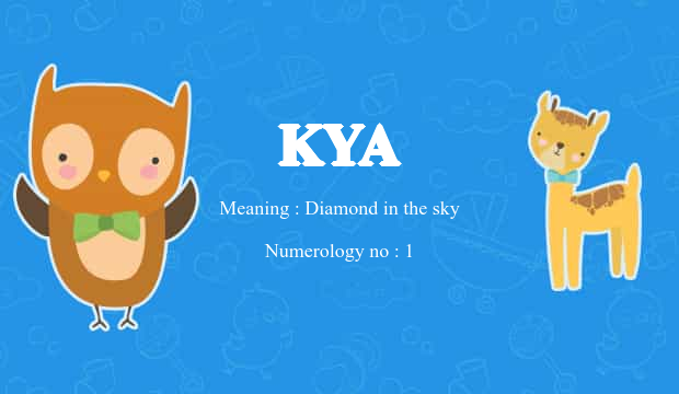 Kya Name Meaning