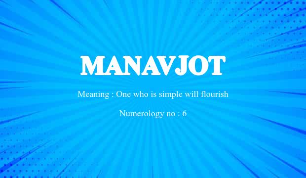 Manavjot Name Meaning