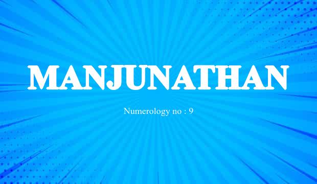 manjunath name astrology
