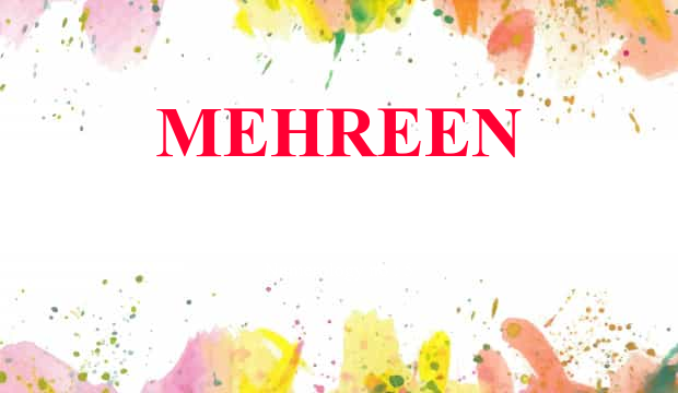 Mehreen Name Meaning