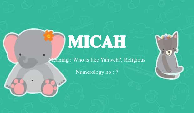 Micah Name Meaning