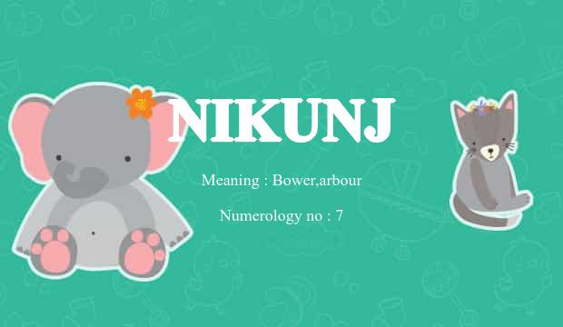 Nikunj Name Meaning