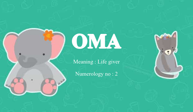Oma Name Meaning