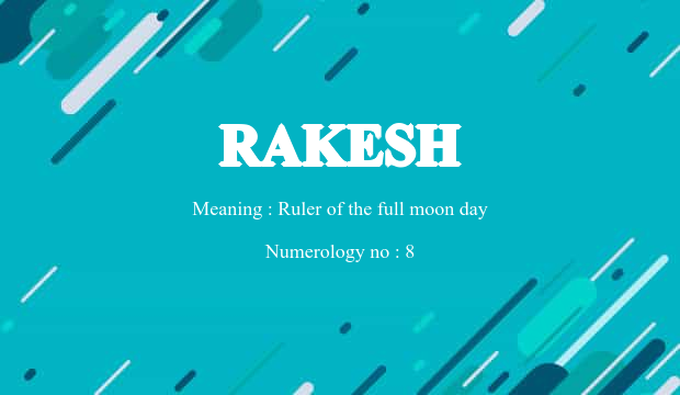 Rakesh Name Meaning