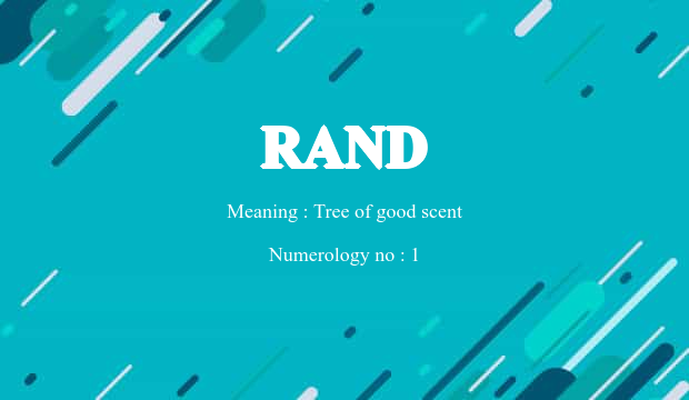 Rand Name Meaning