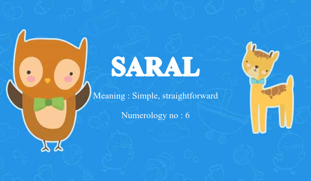 Saral Name Meaning
