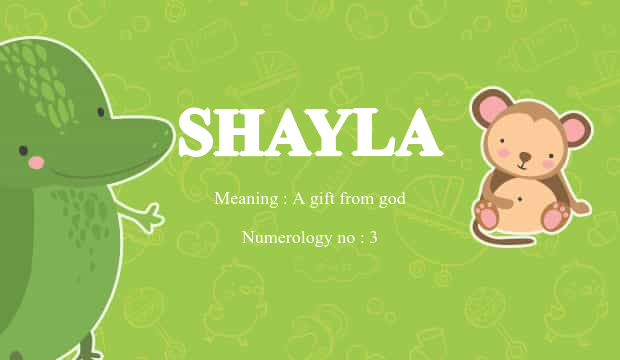 Shayla name meaning baby name background negle Image collections