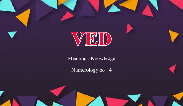 Ved Name Meaning