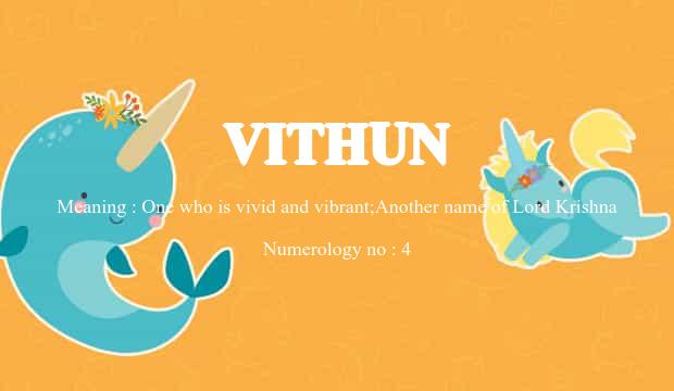 vithun name meaning