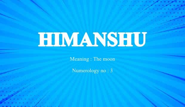 Himanshu Name Meaning