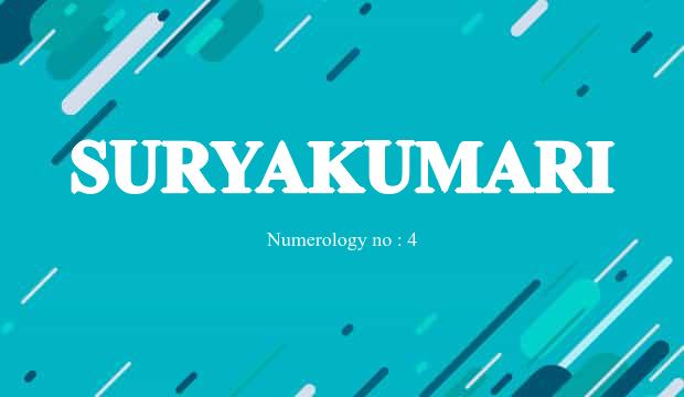 Suryakumari Name Meaning