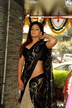 Neetu Chandra during the launch of Fashion Designer Sandhya Singh's new collection