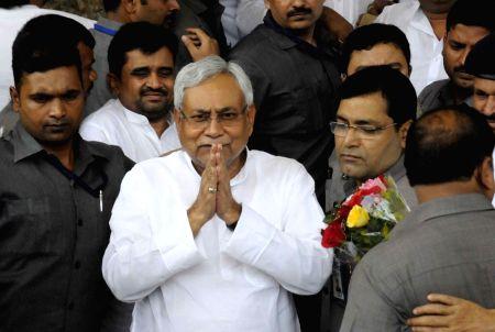 Nitish Kumar arrives at Bihar Assembly