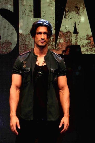"""Actors Vidyut Jammwal during the trailer launch of his upcoming film """"Baadshaho"""" in Mumbai on Aug 7, 2017."""