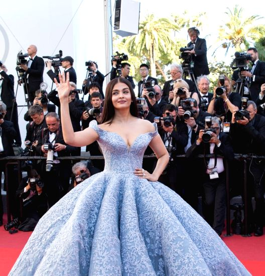 "Cannes (France): Indian actress Aishwarya Rai Bachchan poses on the red carpet for the screening of the film ""Okja"" in competition at the 70th Cannes International Film Festival in Cannes, France, on May 19, 2017."