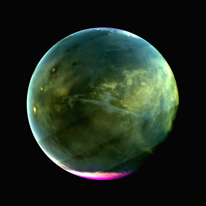A Sharpened Ultraviolet View of Mars. (Photo Credit: NASA/Goddard/University of Colorado /LASP)