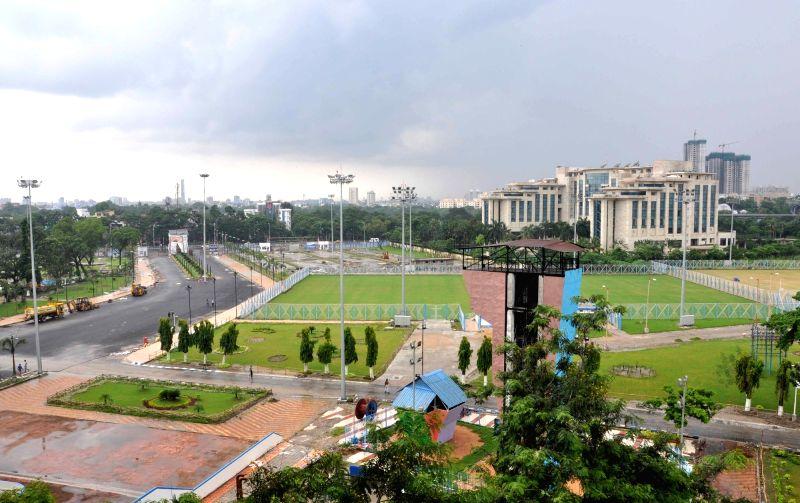 A view of the Vivekananda Yuba Bharati Krirangan where FIFA U-17 World Cup 2017 is going to be held in Kolkata on Aug 8, 2017.