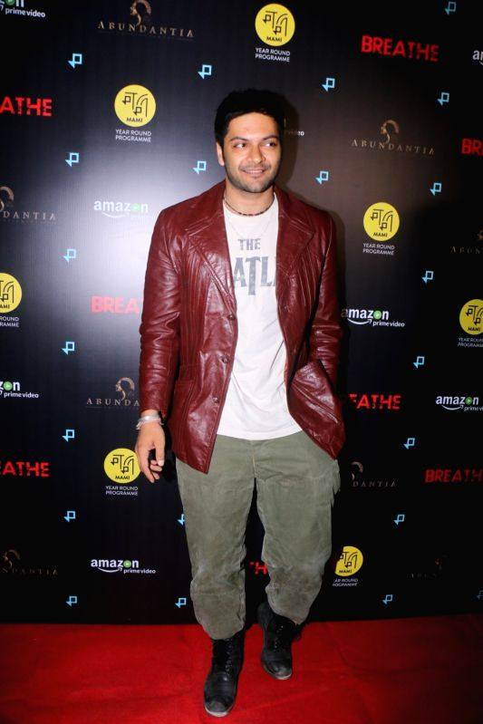 "Actor Ali Fazal at the special screening of upcoming web series ""Breathe"" in Mumbai on Jan 23, 2018.(Image Source: IANS)"