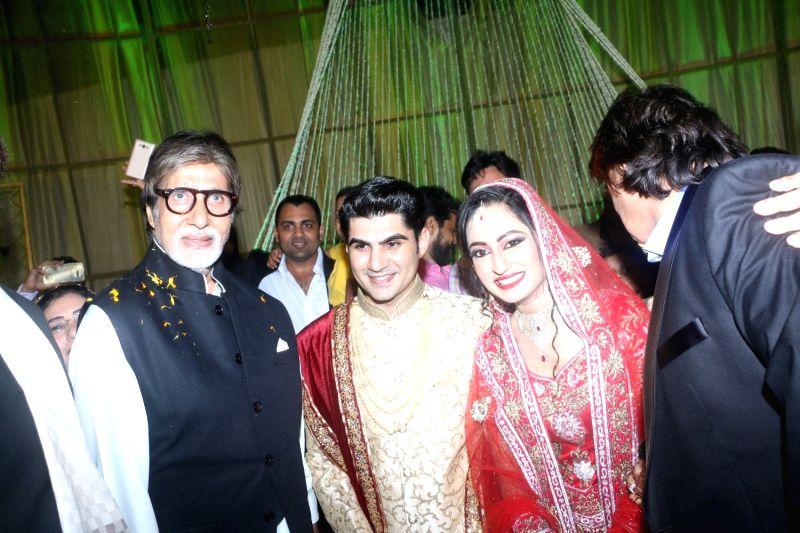 Ali Khan's daughter wedding reception - Amitabh Bachchan - Amitabh Bachchan and Khan