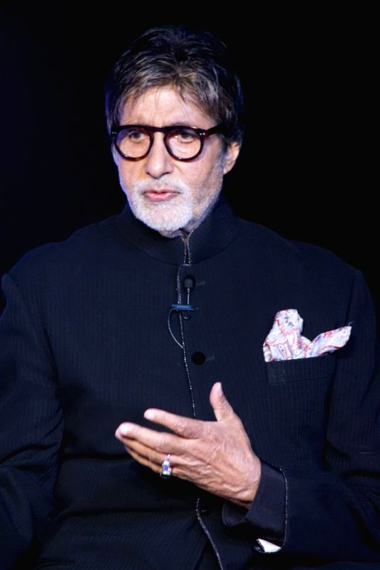 Actor Amitabh Bachchan during a press conference over anchoring the upcoming season of