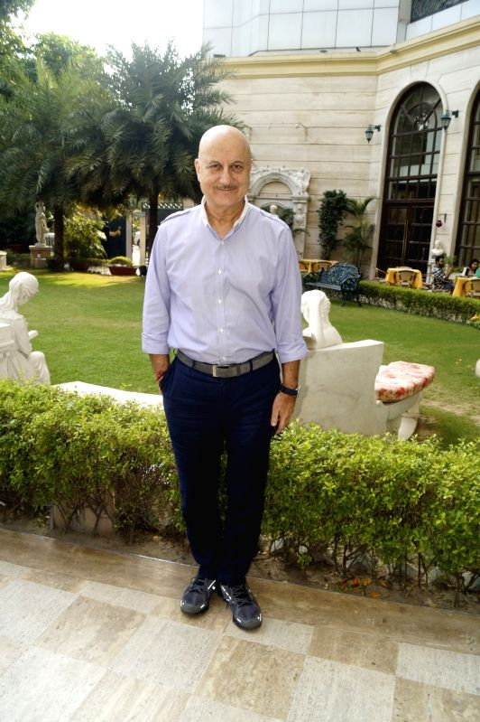 Actor Anupam Kher during the promotion of his upcoming film