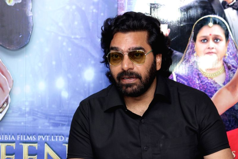 Actor Ashutosh Rana during an Interview For Film Jeena Isi Ka Naam Hai in Mumbai on Feb 27, 2017