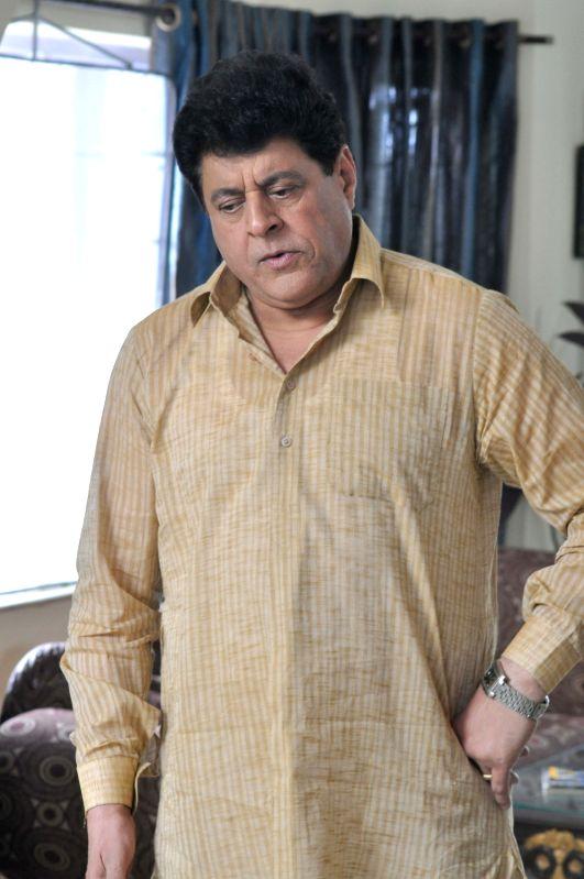 Actor Gajendra Chauhan during a shooting in Kolkata on Dec 29, 2016.