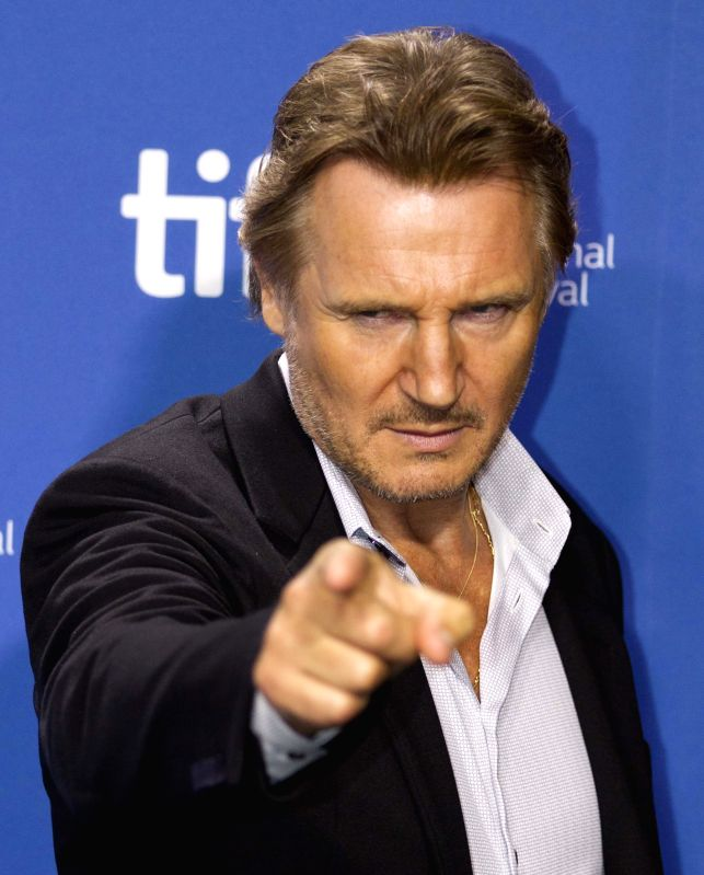 ": Actor Liam Neeson attends the press conference of the film ""The Third Person"" during the 38th Toronto International Film Festival in Toronto, Canada, Sept. 10, ..."