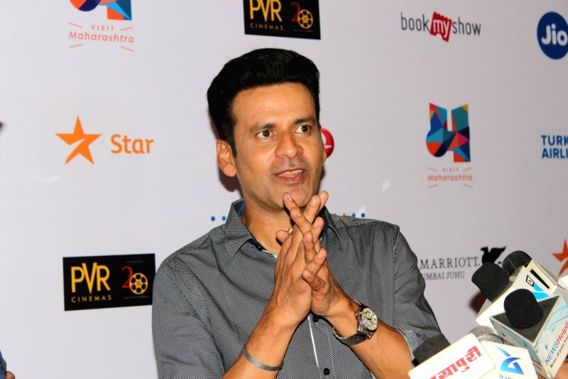 Actor Manoj Bajpayee during the screening of his film