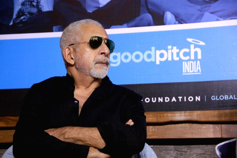 Actor Naseeruddin Shah during a press announcement for 'Films For Change' initiative organised by Good Pitch India in Mumbai on March 14, 2018.
