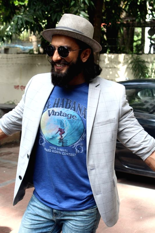 Actor Ranveer Singh during the recording #nofilterneha in Mumbai on July 9, 2017.